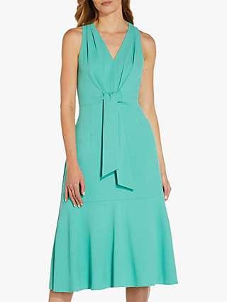 Adrianna Papell Divine Crepe Midi Dress, Jade