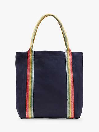 Boden Olivia Stripe Handle Tote Bag, Navy