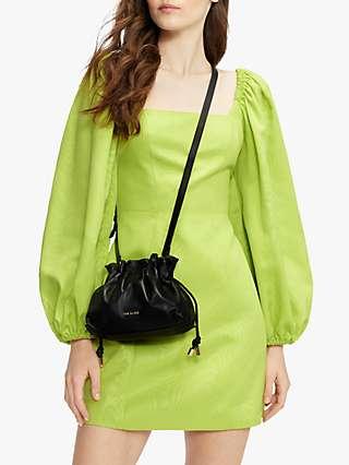 Ted Baker Puff Sleeve Mini Dress, Light Yellow