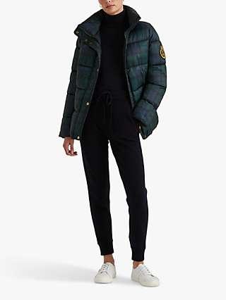 Lauren Ralph Lauren Plaid Quilted Jacket, Black/Multi