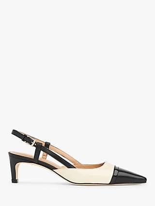 L.K.Bennett Veronica Leather Slingback Court Shoes