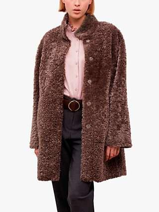 Gerard Darel Mathis Faux Fur Coat, Camel