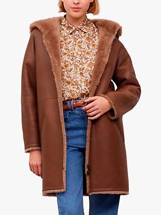 Gerard Darel Marine Faux Fur Coat, Brown