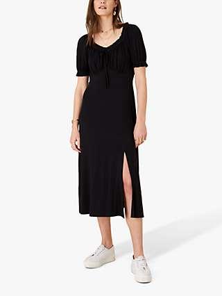 Monsoon Sweetheart Neck Jersey Midi Dress, Black