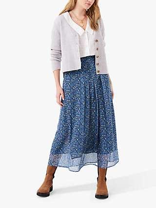 Brora Liberty Chiffon Floral Midi Skirt, Multi
