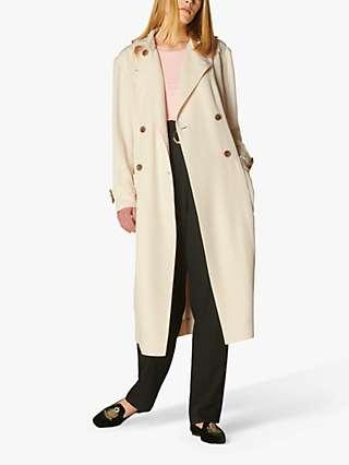 L.K.Bennett Maggie Trench Coat, Cream
