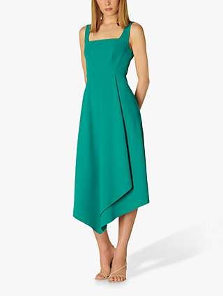 L.K.Bennett Geneive Asymmetric Hem Dress, Turquoise