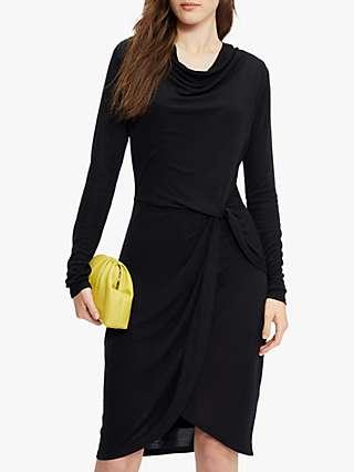 Ted Baker Jersey Cowl Neck Dress, Black