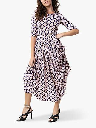 Jolie Moi Pauline Geometric Bird Print Maxi Dress