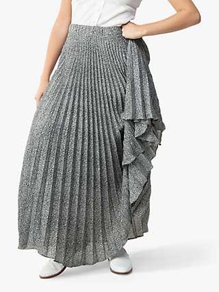 Jolie Moi Sonia Mini Animal Print Pleated Maxi Skirt