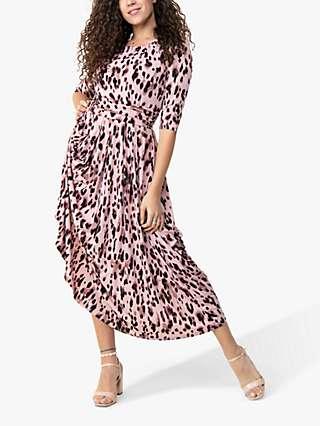 Jolie Moi Pauline Animal Print Maxi Dress, Pink