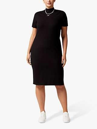 Forever New Aisha Curve Knee Length Dress, Black
