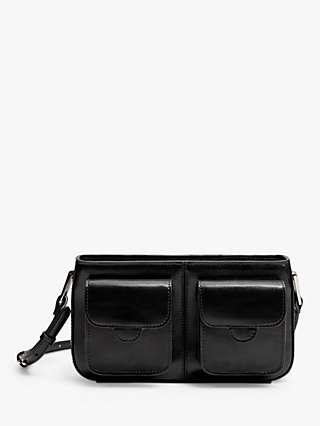 Mango Pockets Cross Body Bag, Black