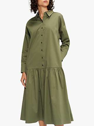 Ted Baker Boxy Shirt Dress, Olive