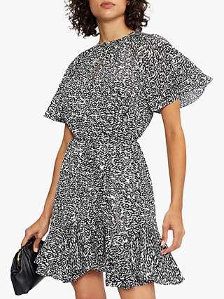 Ted Baker Fluted Mini Dress, Black
