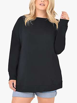 Live Unlimited Side Split Jersey Top, Black