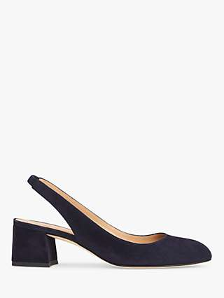 L.K.Bennett Trudy Suede Slingback Court Shoes