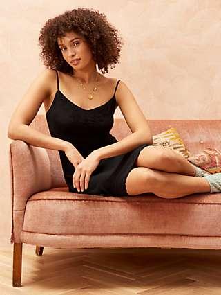 Brora Embroidered Silk Slip Dress