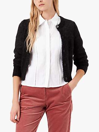 Brora Pleat Embroidered Cotton Shirt, White