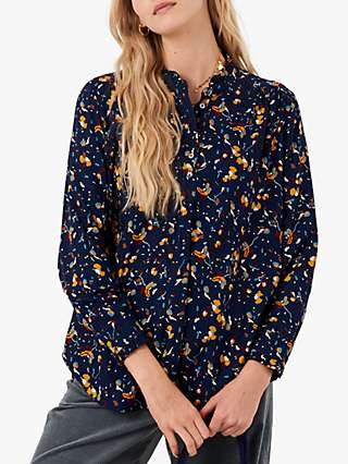 Brora Abstract Print Tunic Top, French Navy