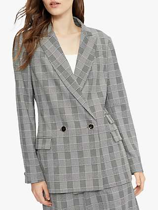 Ted Baker Relaxed Fit Check Blazer Jacket, Black/Grey