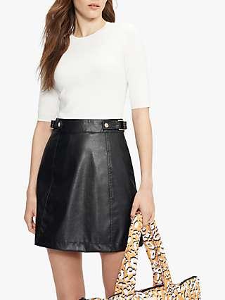 Ted Baker Utility Zip Dress, White/Black