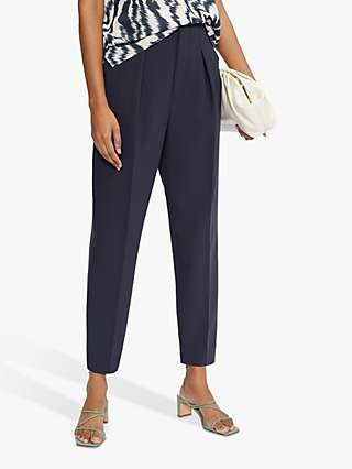 Ted Baker Sculpted Straight Trousers, Dark Blue