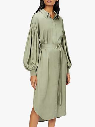 Ted Baker Midi Shirt Dress, Pale Green