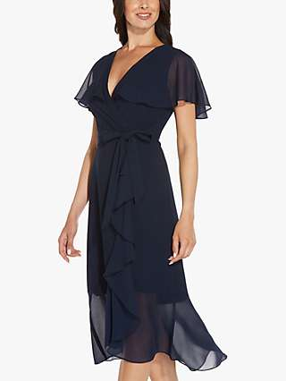 Adrianna Papell Divine Crepe Dress, Blue Moon