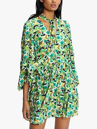 Ted Baker Ilva Floral Smock Dress, Bright Green
