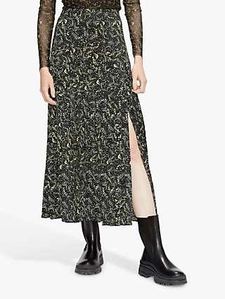 Ted Baker Deeana Floral Midi Skirt, Black/Multi