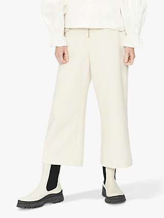 Ted Baker Elmah Wide Leg Cropped Trousers, White