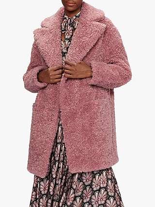 Ted Baker Kayyti Faux Fur Coat, Pink