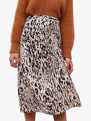Gerard Darel Bali Animal Print Skirt, Beige