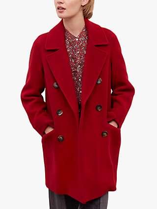 Gerard Darel Siem Double Breasted Coat, Red