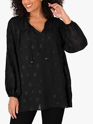 Live Unlimited Curve Star Textured Tunic Top
