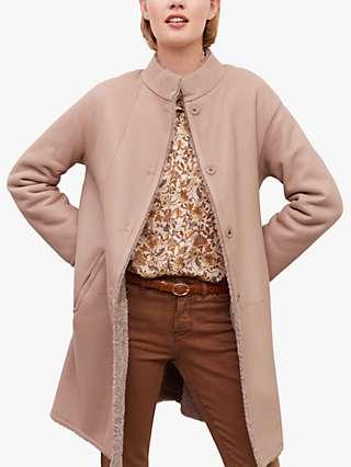 Gerard Darel Margarett Reversible Faux Fur Coat, Beige