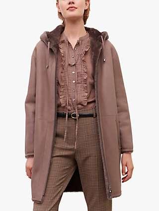 Gerard Darel Manille Reversible Faux Fur Coat, Grey