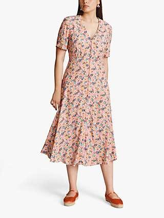 Ghost Emma Floral Midi Dress