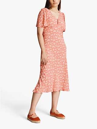 Ghost Lana Ditsy Floral Print Midi Dress