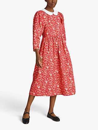 Ghost Alora Floral Midi Dress