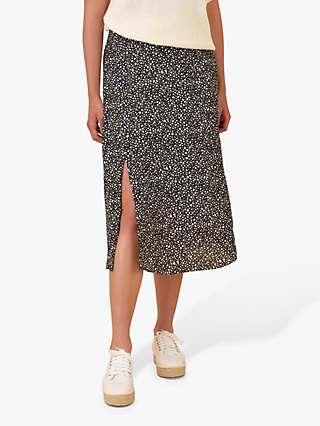Ro&Zo Pebble Print Midi Skirt, Black/Ivory