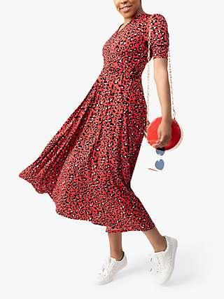 Jolie Moi Selene Animal Print Maxi Dress