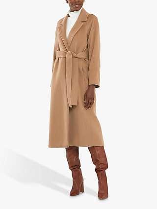 Helen McAlinden Michelle Wool Blend Coat, Camel