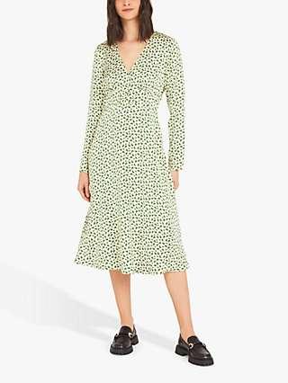 Finery Lilly Confetti Geo Print Midi Dress, Cream/Multi