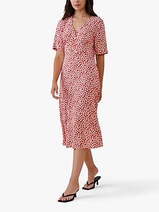 Finery Sophia Ditsy Floral Midi Dress