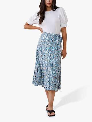 Finery Makayla Ditsy Floral Midi Skirt