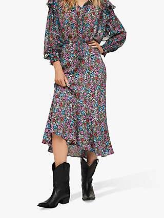 Mango Daniela Floral Midi Skirt, Multi