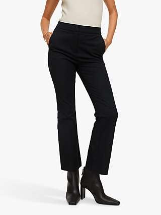 Mango Bootcut Trousers, Black