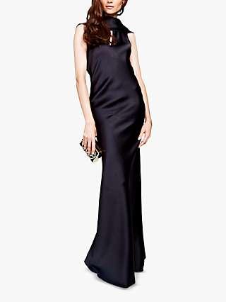 HotSquash Cowl Neck Gown, Black